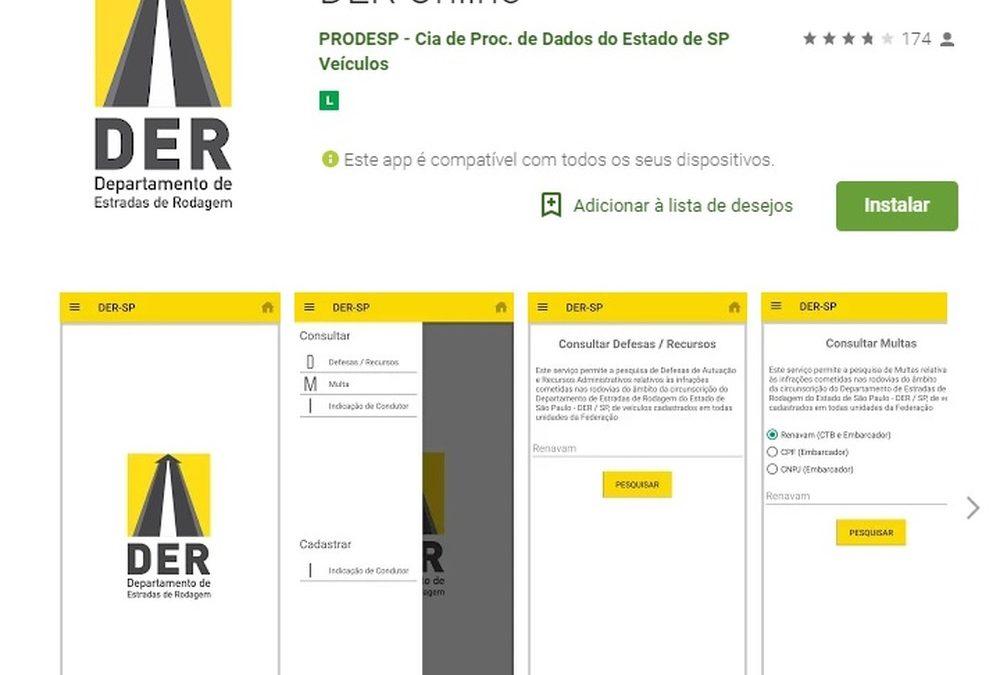 DER lança aplicativo para consulta de multa em rodovias de SP