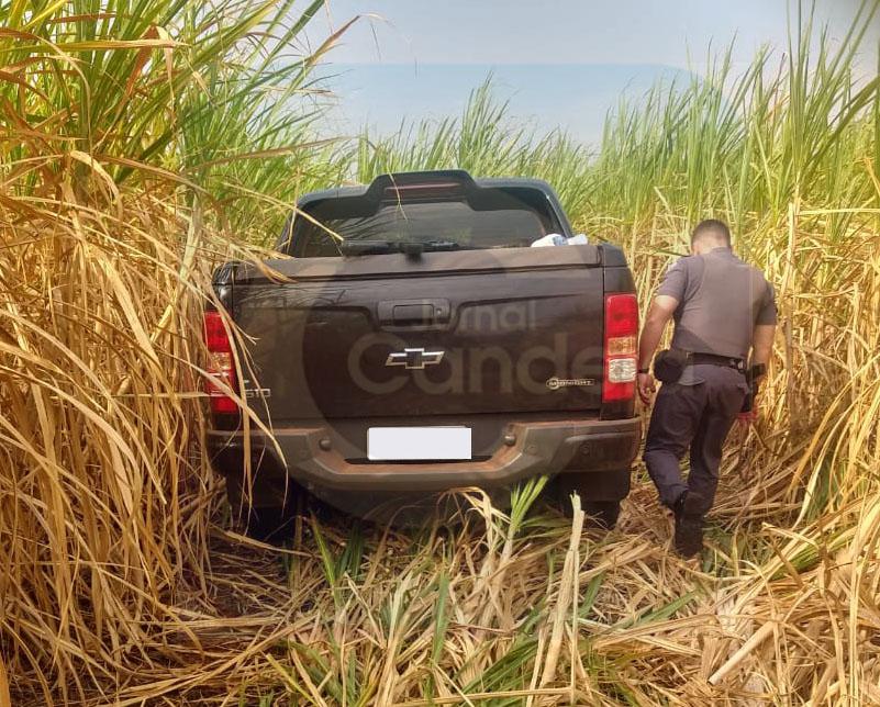 Homens roubam caminhonete com simulacro em Bariri