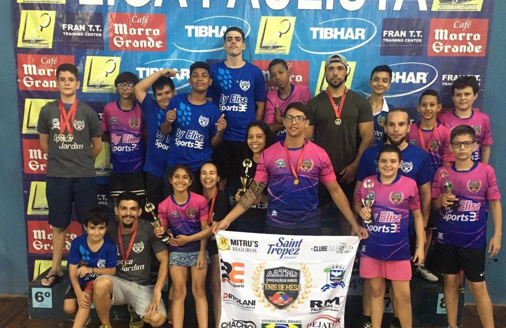 Jaú: Equipe de tênis de mesa conquista o terceiro lugar na Liga Paulista