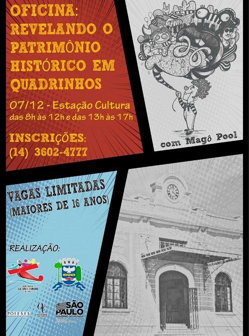 Jaú: Oficina Revelando o patrimônio histórico em quadrinhos ocorre nesse sábado