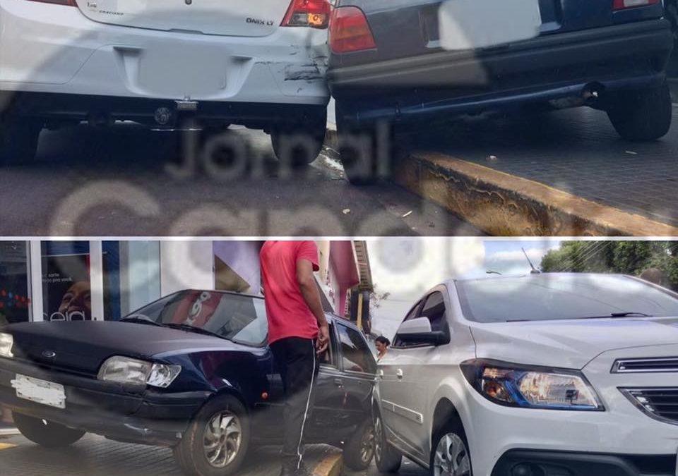 Bariri: Veículos colidem na AV. 15 de Novembro próximo à agência