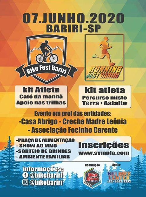 Bike e Running Fest Bariri estão com inscrições abertas