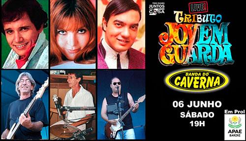 Banda do Caverna realiza live neste sábado às 19h
