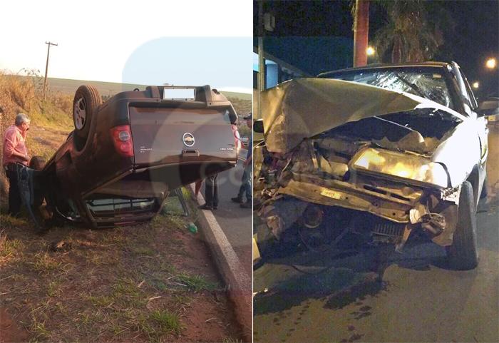 Acidentes marcam noite de quarta-feira em Bariri e Boraceia