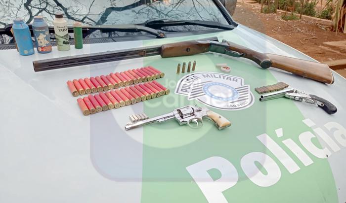 Bariri: Polícia Ambiental apreende armas e munições no Barra Mansa