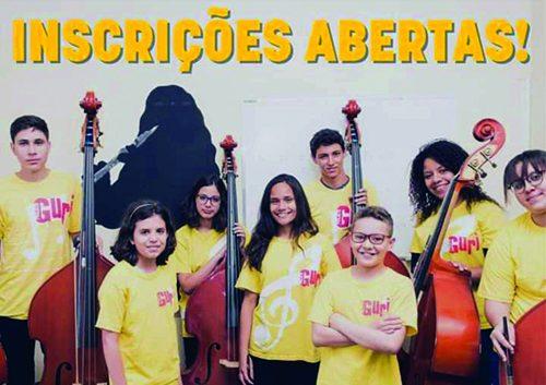 Projeto Guri de Bariri abre inscrições para violão, guitarra, baixo e bateria