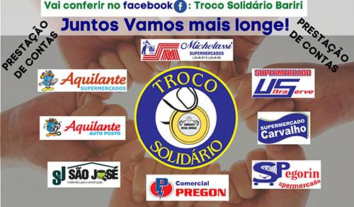 Troco Solidário rende R$ 815,59 a cada entidade em dezembro
