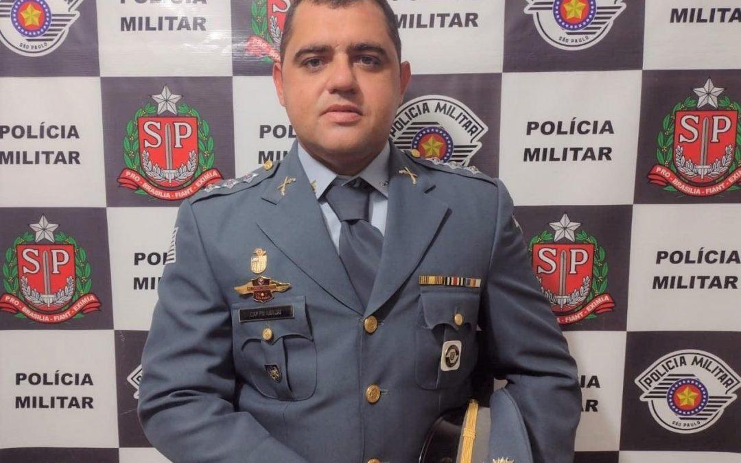 Capitão Amauri Manzutti integra efetivo do 27º Batalhão da PM de Jaú