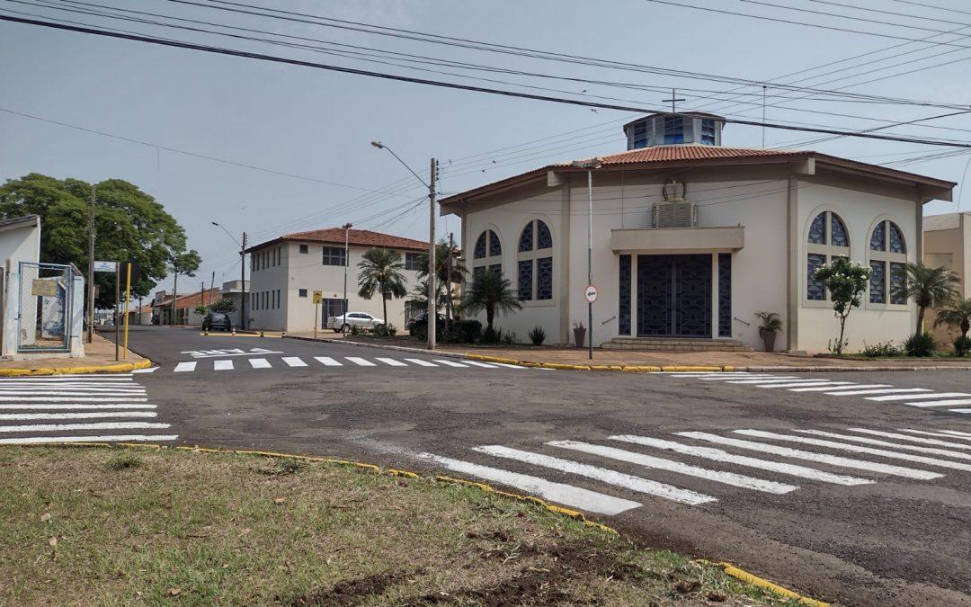 Bariri: Setor de Trânsito realiza pintura de solo em novas áreas