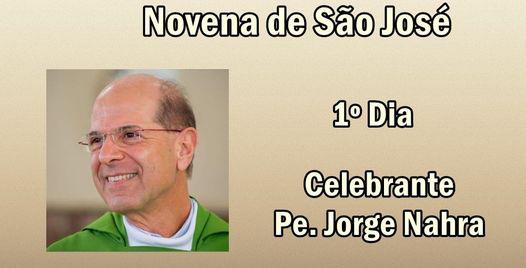 Padre Jorge celebra primeira missa da novena de São José